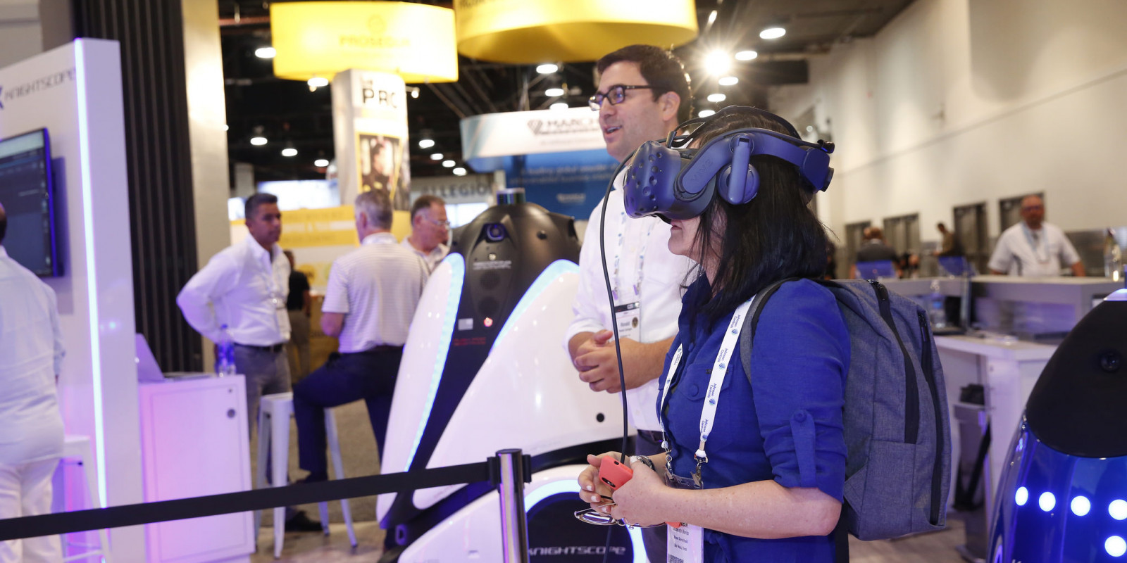 Buyer Testing AI in the Exhibit Hall