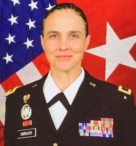 Brigadier General Stephanie Horvath speaks at GSX