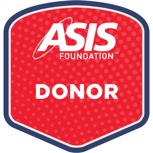 asis foundation donor badge