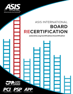 ASIS Recertification Guide
