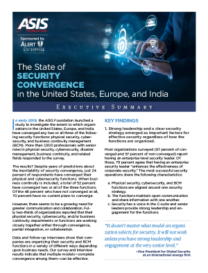 Security Convergence Executive Summary